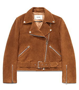 WOMENS BELTED RIDERS JACKET HS [CAMEL]
