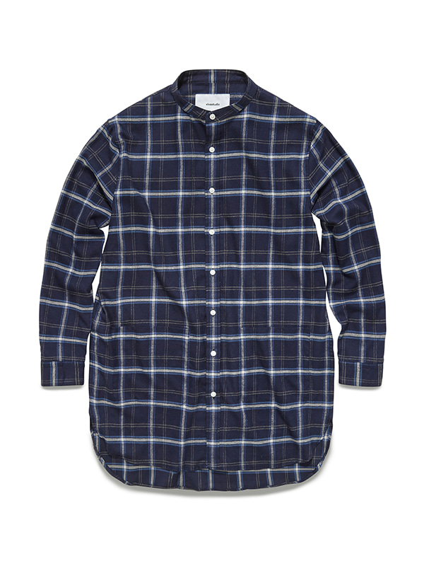 PLAID LONG CHECK SHIRTS GA [NAVY]