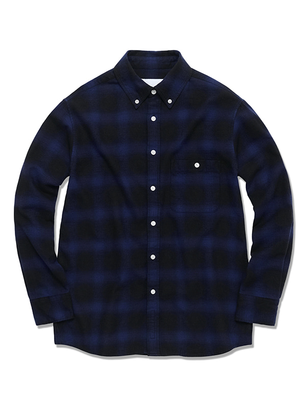 OMBRE CHECK SHIRTS HS [PURPLE]