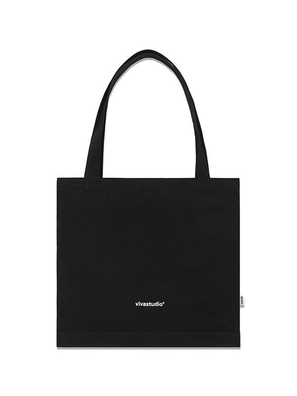 ORIGINAL LOGO CANVAS BAG HS [BLACK]