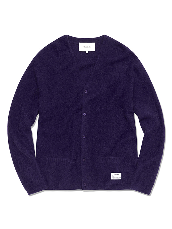 MOHAIR CARDIGAN HS [PURPLE]