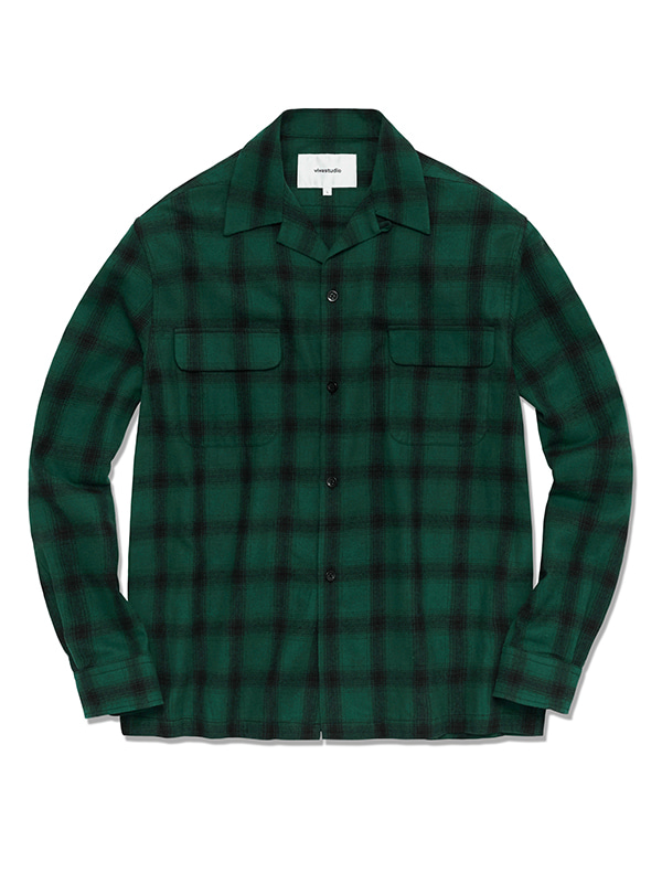 BOWLING CHECK SHIRTS HS [GREEN]