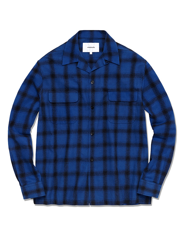 BOWLING CHECK SHIRTS HS [BLUE]