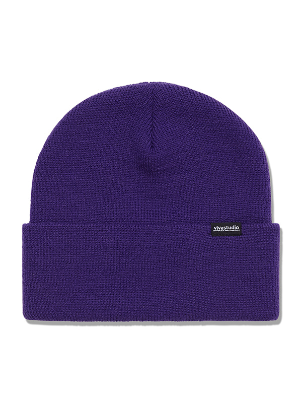 ORIGINAL LOGO LABEL BEANIE HS [PURPLE]