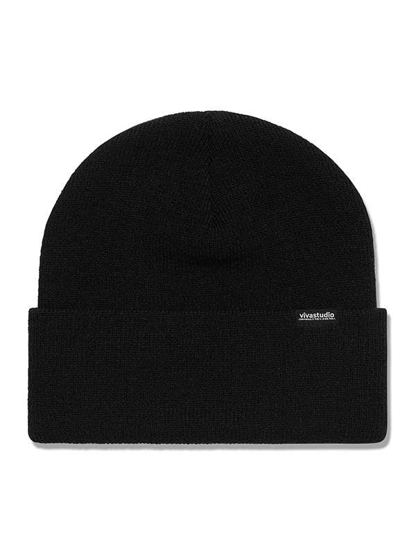 ORIGINAL LOGO LABEL BEANIE HS [BLACK]