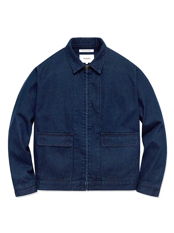 DENIM BLOUSON HS [BLUE]