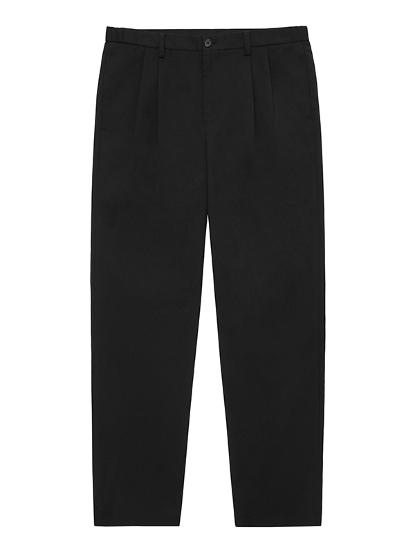 TWO TUCK SLACKS [BLACK]