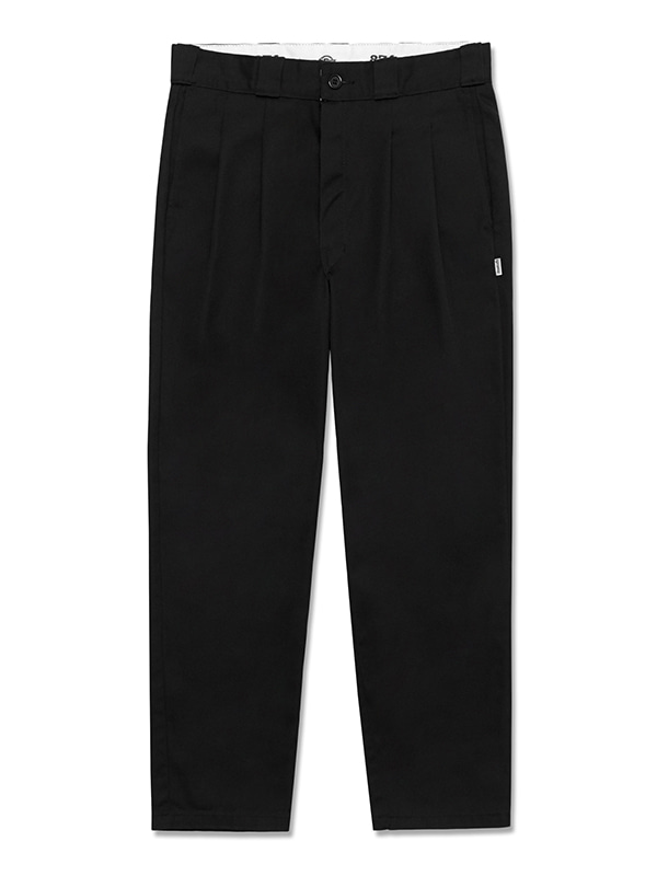 TWO TUCK CHINO PANTS HS VIVASTUDIO X DICKIES [BLACK]