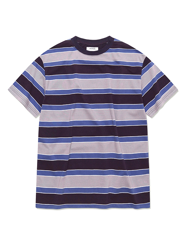 VINTAGE STRIPE SHORT SLEEVE HS [PURPLE]