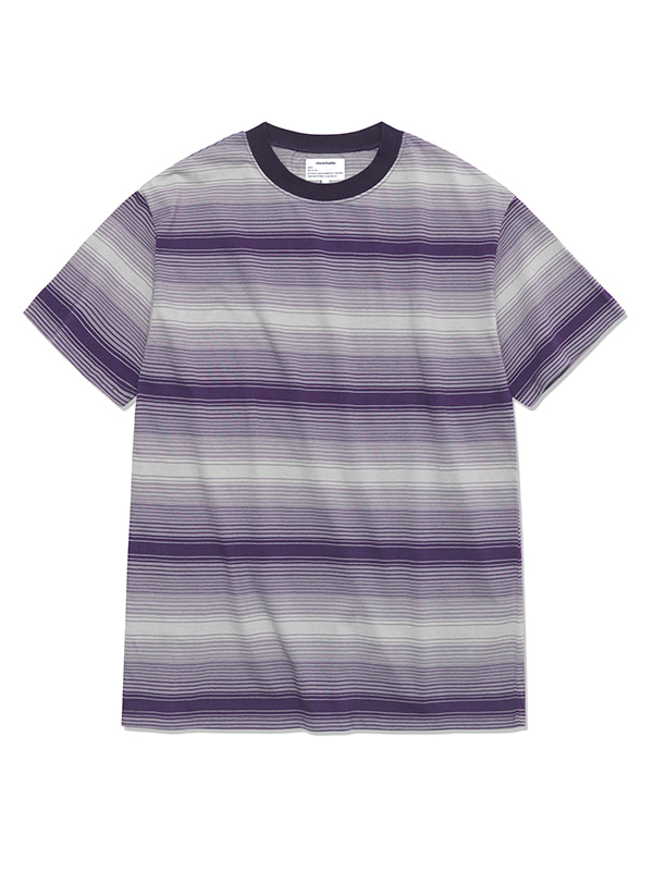 GRADATION STRIPE SHORT SLEEVE HS [GREY]