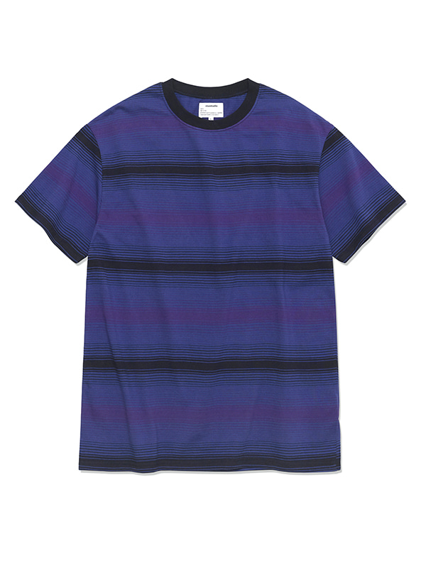 GRADATION STRIPE SHORT SLEEVE HS [NAVY]