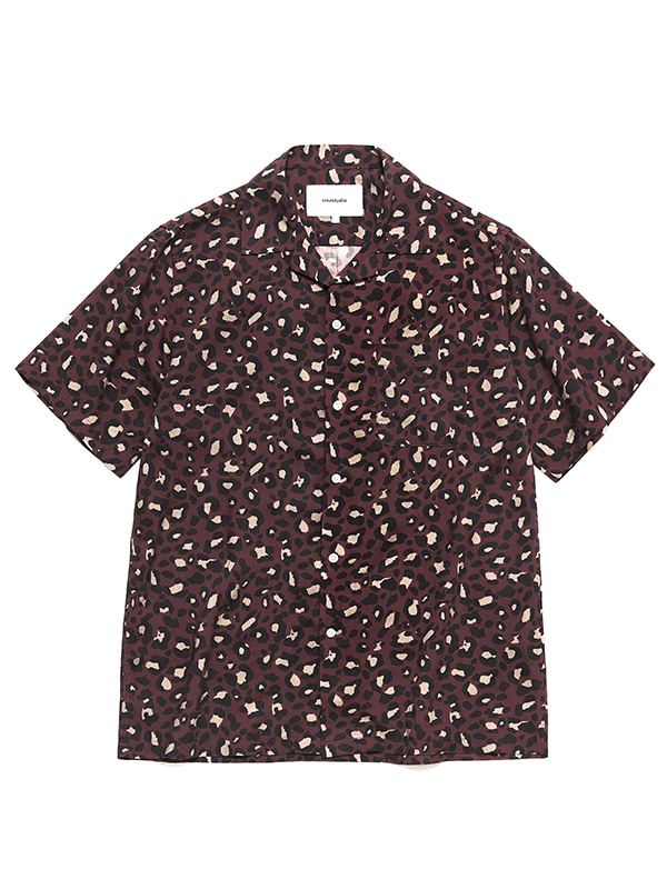 LEOPARD SHIRTS HS [BROWN]
