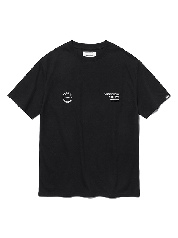 CIRCLE LOGO SHORT SLEEVE HS [BLACK]