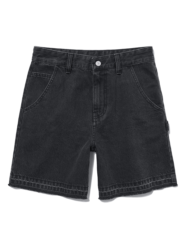 CUT OFF DENIM SHORTS HS [BLACK]