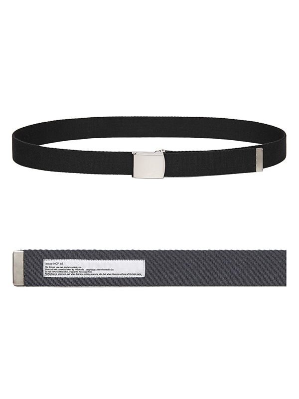 2WAY CANVAS BELT HS [BLACK+GREY]