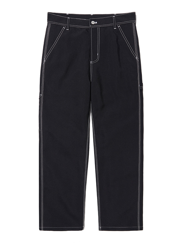 CONTRAST PANTS HS [BLACK]