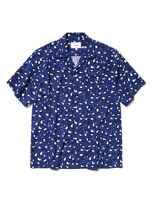 LEOPARD SHIRTS HS [BLUE]