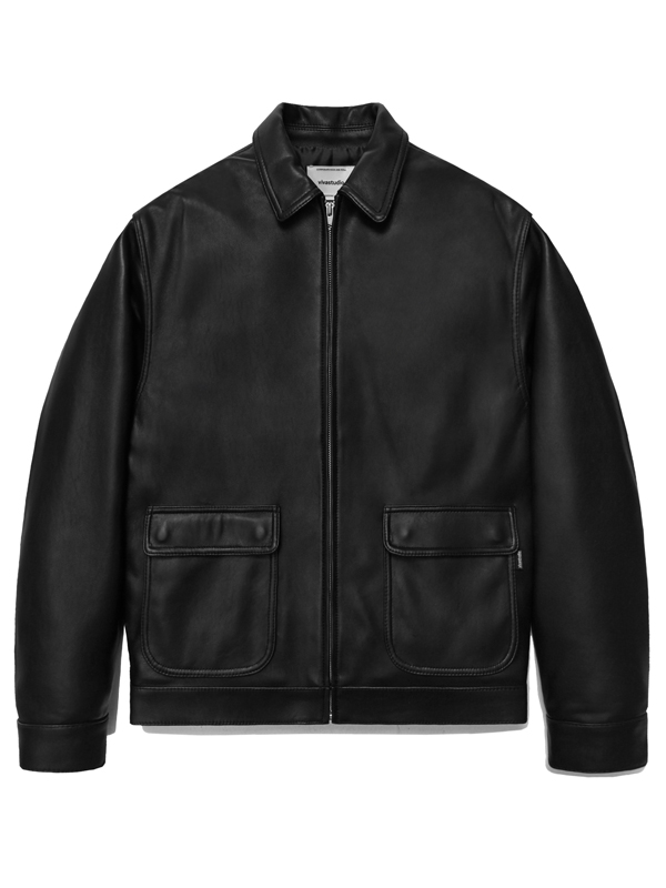 LEATHER BLOUSON HA [BLACK]
