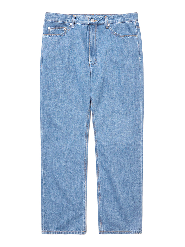 WASHED DENIM PANTS HA [LIGHT BLUE]