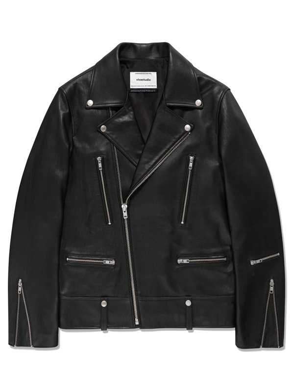 TERRY RIDERS JACKET HA [BLACK]