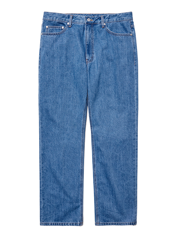 WASHED DENIM PANTS HA [BLUE]