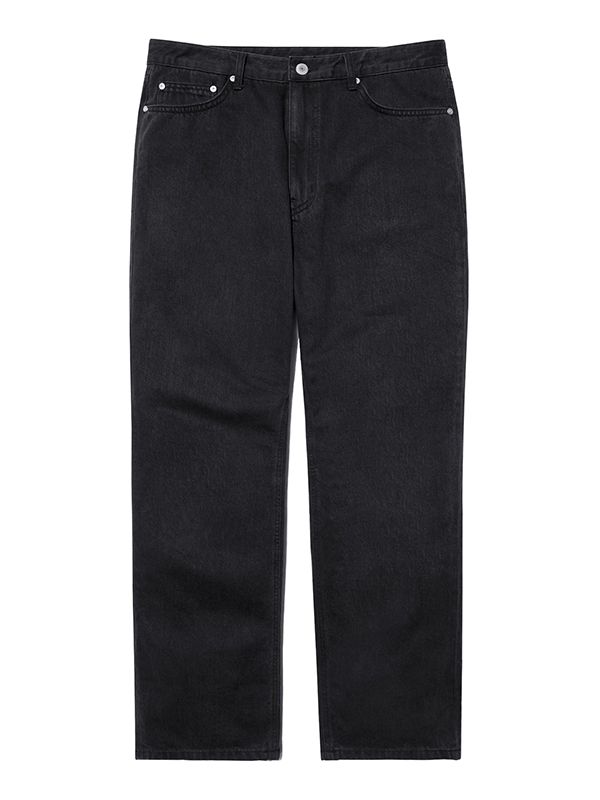 WASHED DENIM PANTS HA [BLACK]