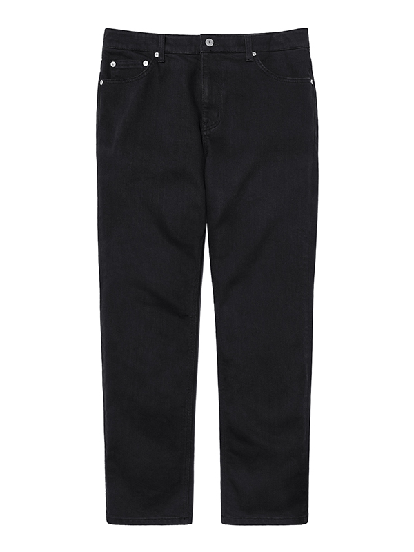 LIGHT WASHED DENIM PANTS HA [BLACK]