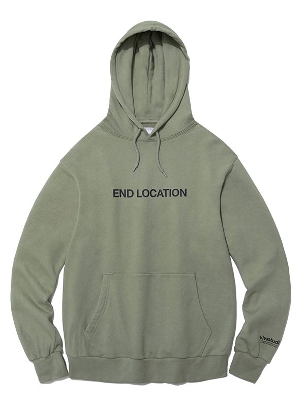 END LOCATION HOODIE HA [LIGHT KHAKI]