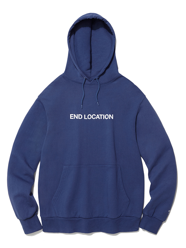 END LOCATION HOODIE HA [INDIGO BLUE]