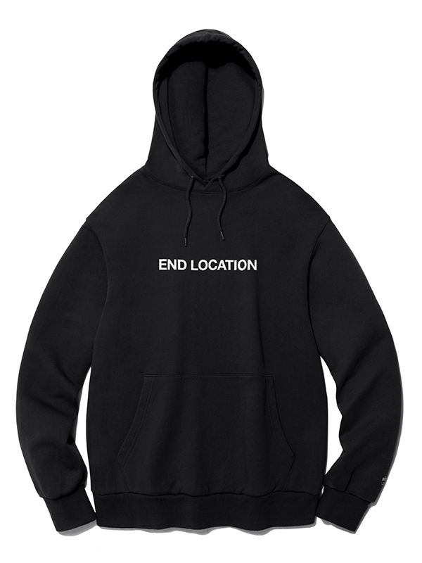 END LOCATION HOODIE HA [BLACK]