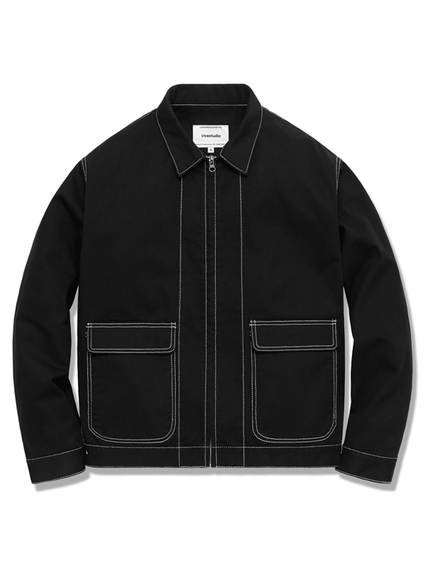 BLOUSON JACKET HA [BLACK]