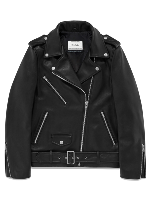 WOMENS LAMB SKIN RIDERS JACKET HA [BLACK]