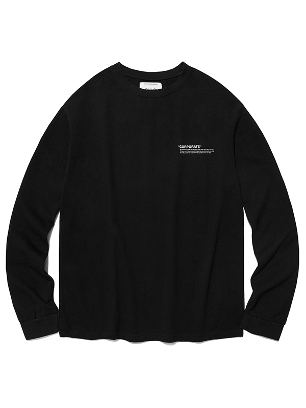 LOCATION LOGO LONG SLEEVE HA [BLACK]