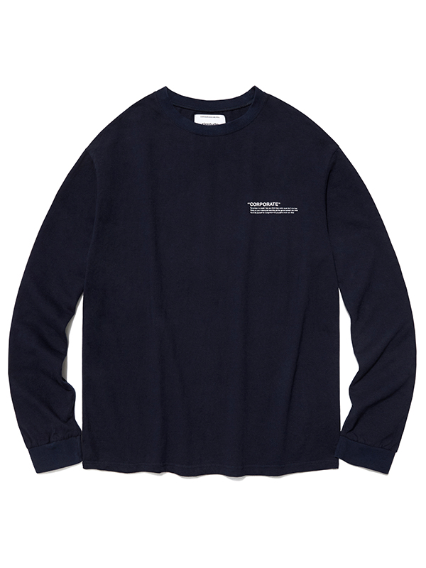 LOCATION LOGO LONG SLEEVE HA [NAVY]