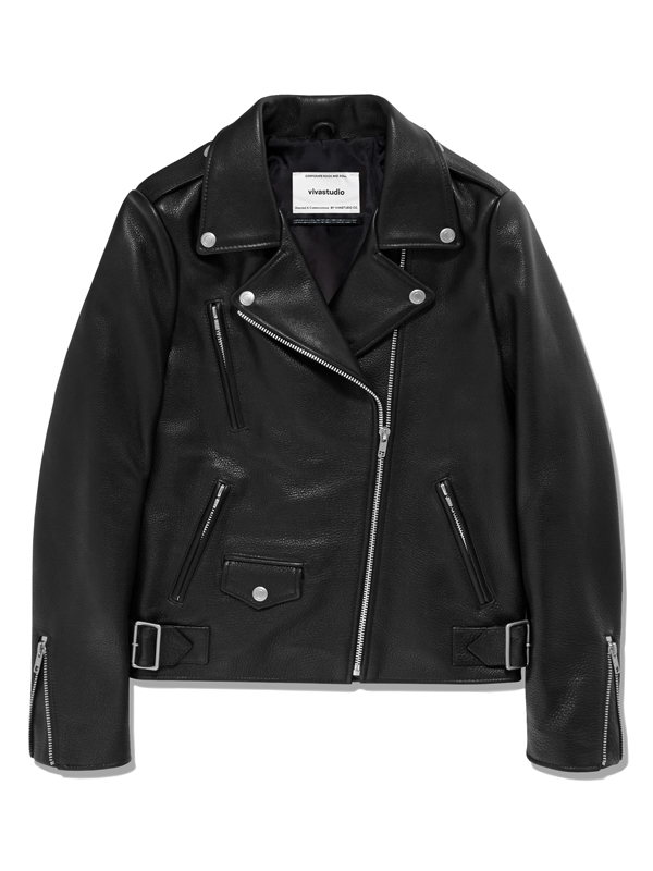 WOMENS RIDERS JACKET HA [BLACK]