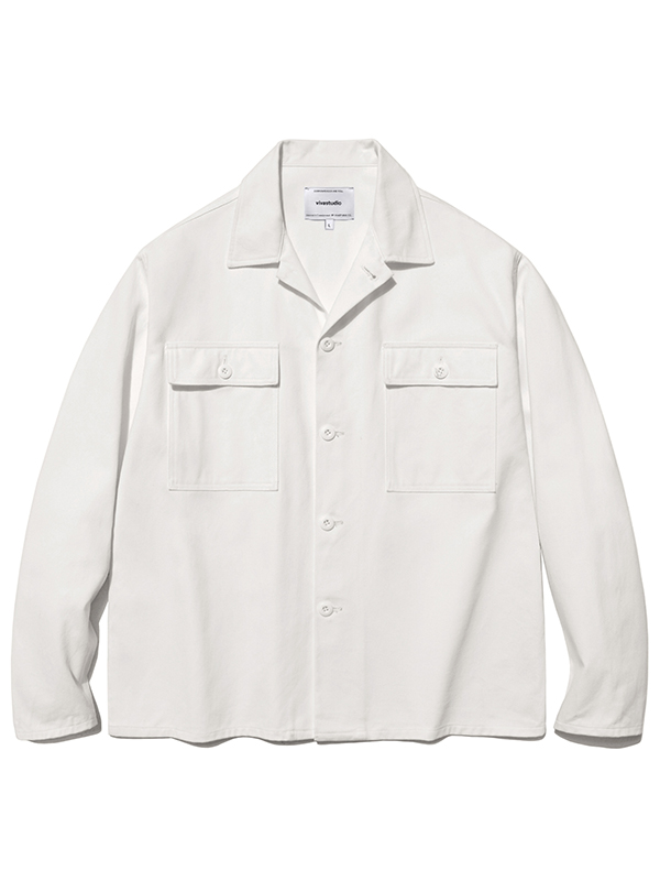 WASHED JACKET HA [WHITE]