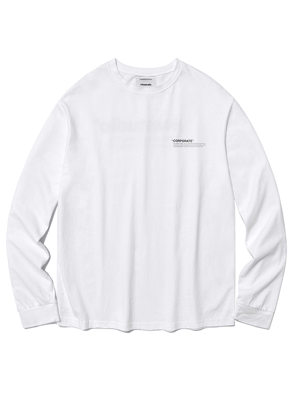 LOCATION LOGO LONG SLEEVE HA [WHITE]