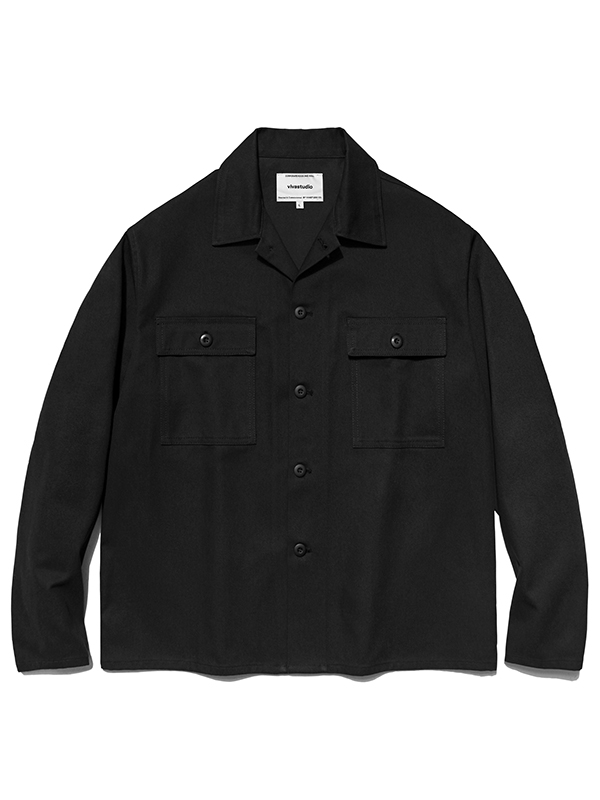 WASHED JACKET HA [BLACK]