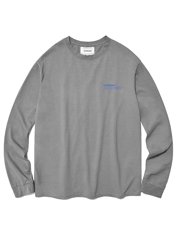 LOCATION LOGO LONG SLEEVE HA [GREY]