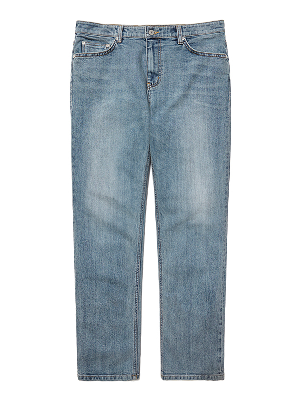 LIGHT WASHED DENIM PANTS HA [BLUE]