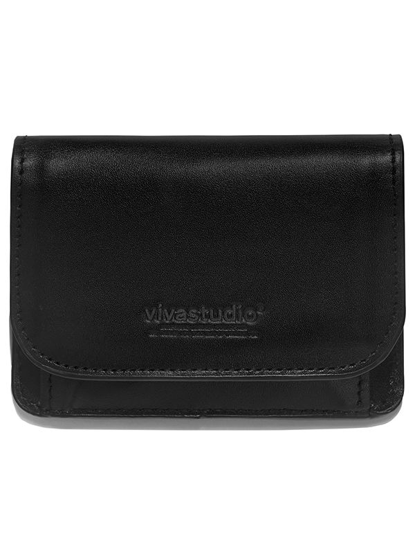 LEATHER WALLET HA [BLACK]