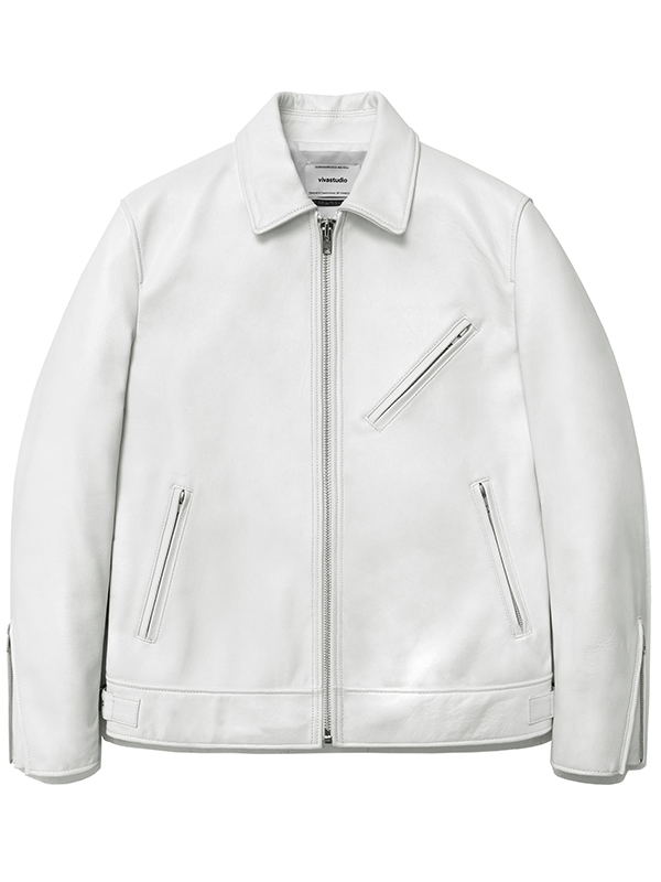 SINGLE RIDERS JACKET HA [WHITE]