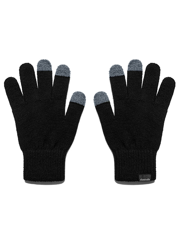 ORIGINAL LOGO GLOVES HA [BLACK]
