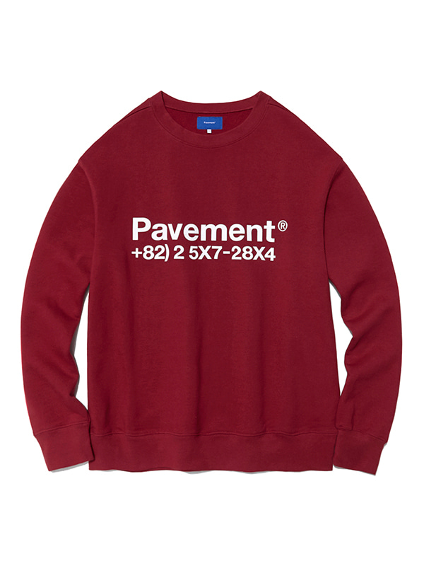 NEW GRAPHIC CREWNECK HA [BURGUNDY]