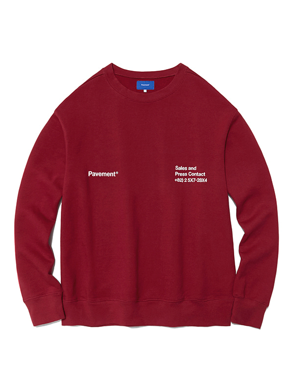 CODE CREWNECK HA [BURGUNDY]