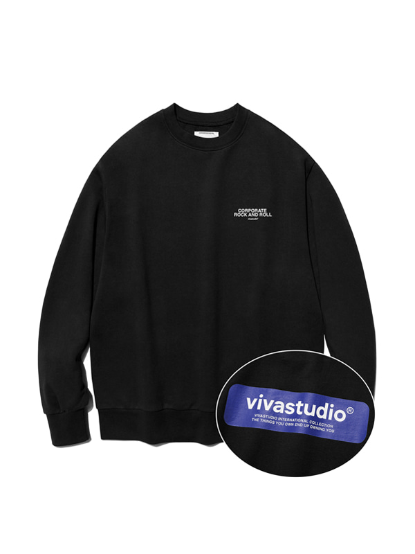 BOX LOGO CREWNECK IS [BLACK]