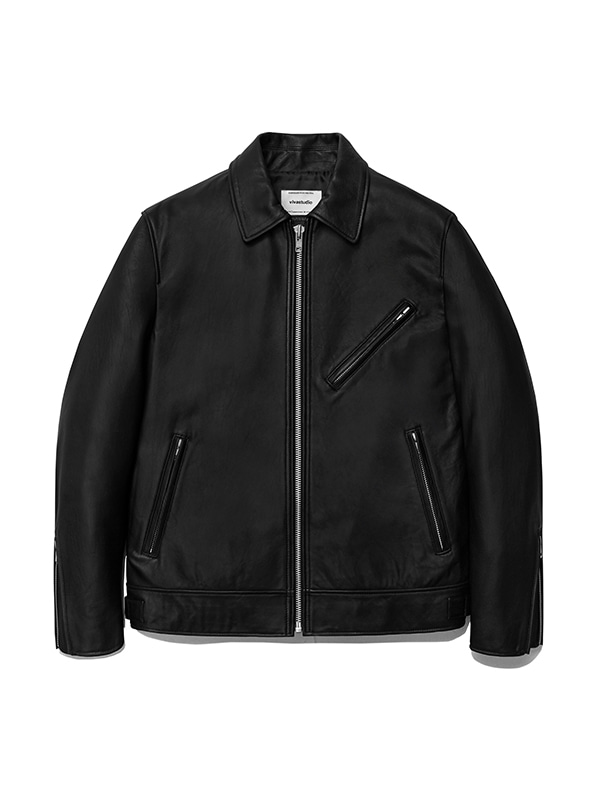 SINGLE RIDERS JACKET IS [BLACK]