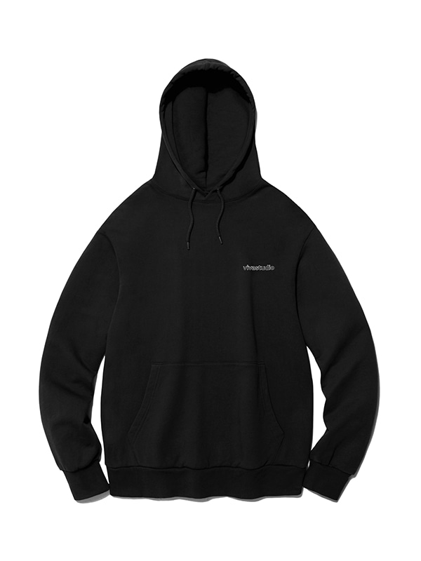 OUTLINE LOGO HOODIE IS [BLACK]