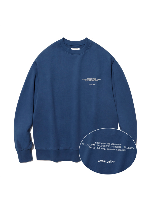 NEW LOCATION LOGO CREWNECK IS [INDIGO BLUE]