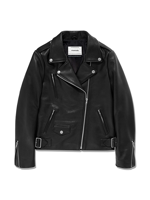JANIS RIDERS JACKET IS [BLACK]